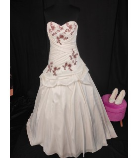Robe de mariée bicolore
